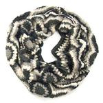 snood maille crochet palme gris SNO26 1