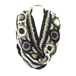 snood maille crochet palme gris SNO26 3