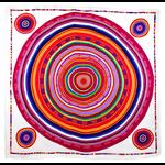 foulard en soie blanc cercle premium CSGP-FAN 14 1