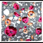 foulard en soie gris floralie premium CSGP-FAN 13 1
