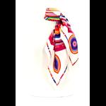 foulard en soie blanc cercle premium CSGP-FAN 14 2