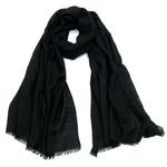 foulard chèche lin mixte noir CHEM-FAN 04 2_modifié-1