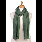 foulard chèche lin mixte vert CHEM-FAN 01 1 copie