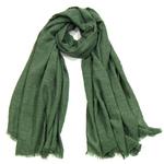 foulard chèche lin mixte vert CHEM-FAN 01 2 copie