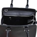 sac en cuir femme noir pompon 5