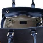 sac en cuir femme bleu marine pompon 5