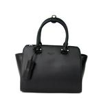 sac en cuir femme noir pompon 8