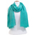 foulard lin vert eau 1
