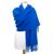 étole laine bleu vif 2