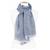 foulard chèche bleu gris coton femme homme
