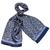 Foulard soie homme bleu marine Laurent
