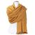 étole femme cachemire et laine jaune moutarde