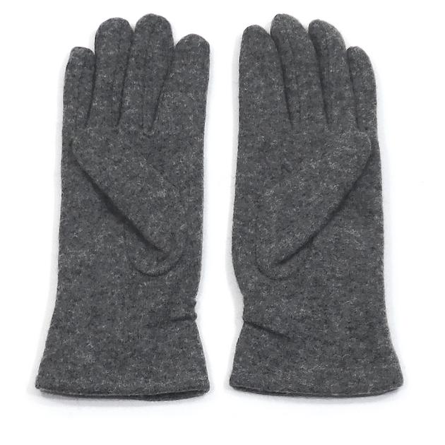 gants en laine gris pour femmes avec fronces tu accessoires mode gants laine mes echarpes. Black Bedroom Furniture Sets. Home Design Ideas
