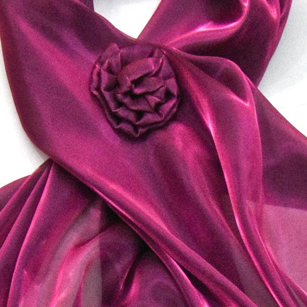 étole broche fleur bordeaux ETF151 2