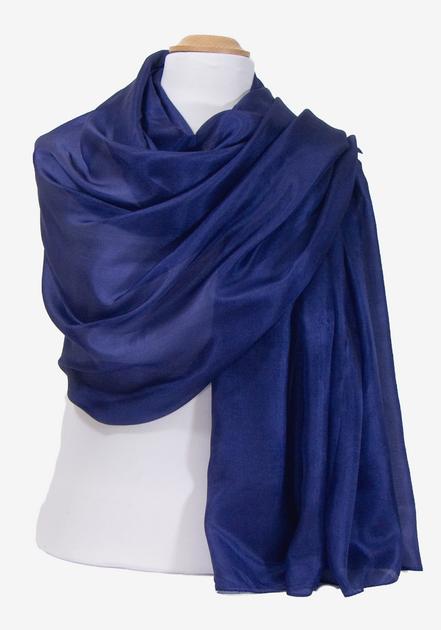 etole en soie bleu marine  ETSU-FAN 13 2
