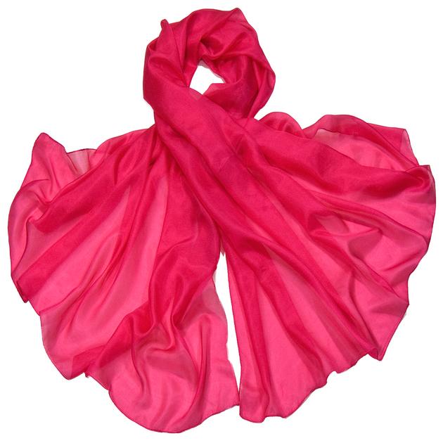 etole en soie rose fushia ETSU-FAN 12 1
