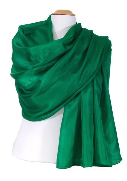 etole en soie vert ETSU-FAN 06 2