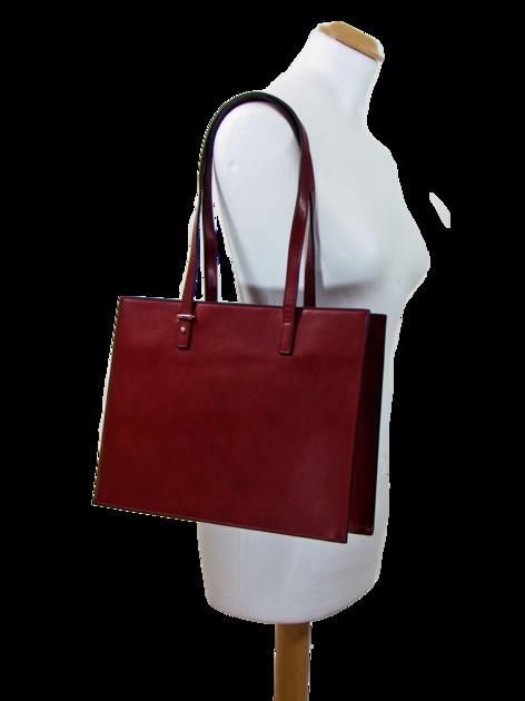 sac cabas cuir bordeaux SAC-FAN 163420 2  1