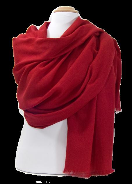 étole en laine fine rouge bordeaux premium ETLFP-FAN 14 2