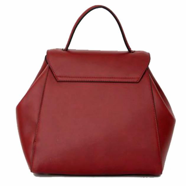 sac a main femme  rouge bordeaux rabat 2
