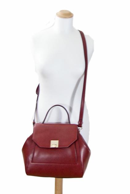 sac a main femme  rouge bordeaux rabat 5