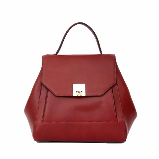 sac a main femme  rouge bordeaux rabat