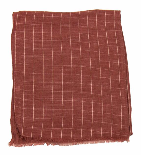foulard cheche homme bordeaux clair carreaux 3