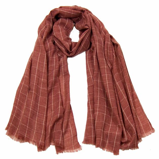 foulard cheche homme bordeaux clair carreaux