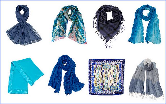 Echarpe bleu - foulard bleu - étole bleu - carré de soie bleu ... 6706c612fa2