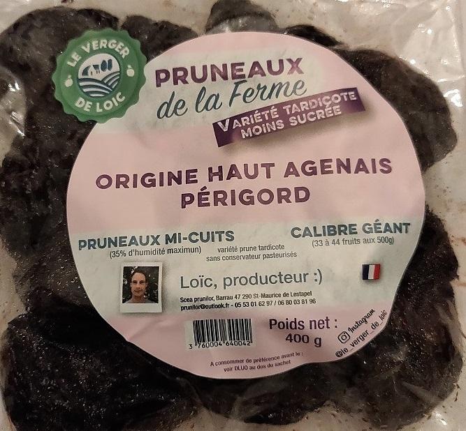 400 g Pruneaux variété tardicote