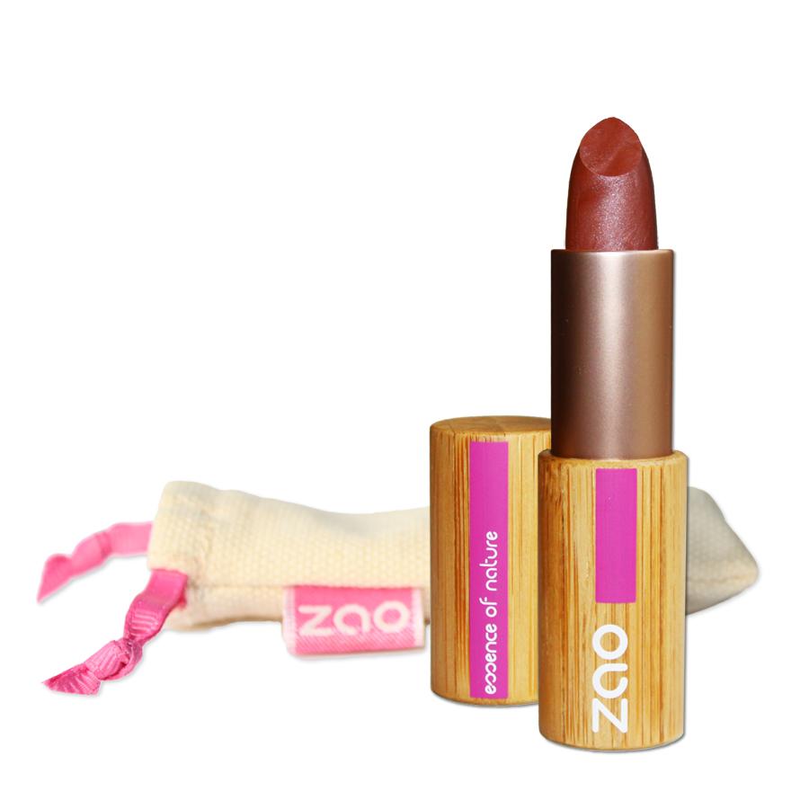 ZAO MAKE UP - Rouge à Lèvres Nacré - 404 BRUN ROUGE NACRE