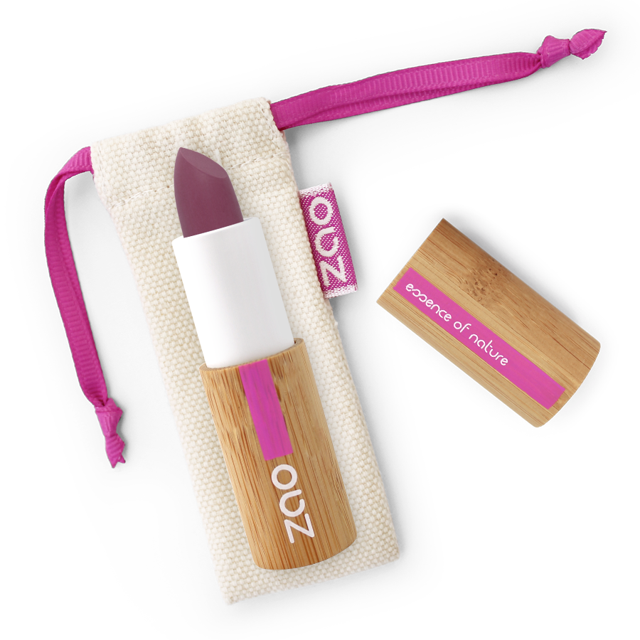 ZAO MAKE UP - Rouge à Lèvres Soft Touch - 437 AUBERGINE