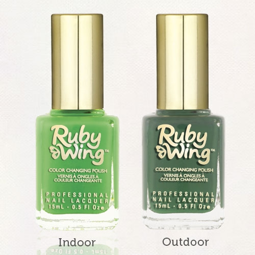 RUBY WING - Vernis Ongles Photochromique Collection Festival Paint - GREEN PEACE