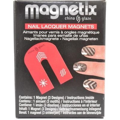 CHINA GLAZE - Vernis Ongles Magnétique Collection Magnetix - AIMANT 3 MOTIFS