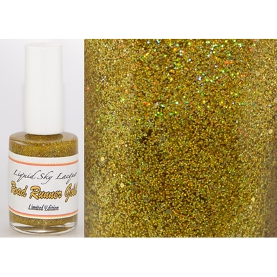 LIQUID SKY LACQUER - Vernis Collec Hot Rod / Textured - ROAD RUNNER GOLD 15 ml