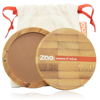 ZAO MAKE UP - Poudre Compacte - 305 CHOCOLAT AU LAIT