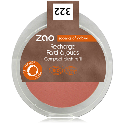 ZAO MAKE UP - Fard à joues - 322 BRUN ROSE Recharge