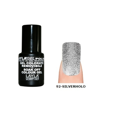 LAYLA - Vernis Ongles Semi Permanent Soak Off Gel Polish - 92 SILVER HOLO