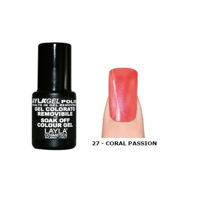 LAYLA - Vernis Ongles Semi Permanent Soak Off Gel Polish - 27 CORAL PASSION
