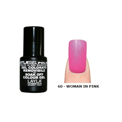 LAYLA - Vernis Ongles Semi Permanent Soak Off Gel Polish - 60 WOMAN IN PINK