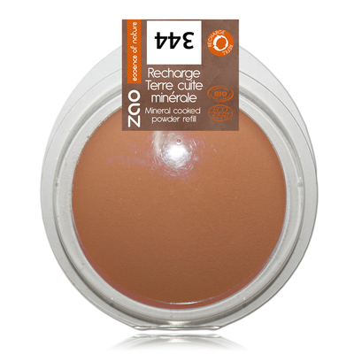 ZAO MAKE UP - Terre Cuite Minérale - 344 CHOCOLAT Recharge