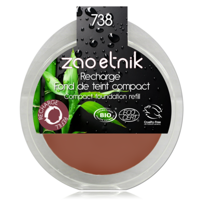 ZAO MAKE UP - Fond de Teint Compact - 738 NOISETTE Recharge