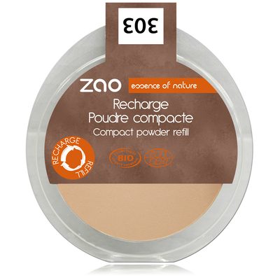 ZAO MAKE UP - Poudre Compacte - 303 BRUN BEIGE Recharge