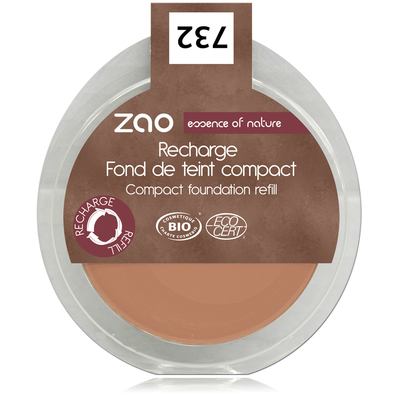 ZAO MAKE UP - Fond de Teint Compact - 732 PETALE DE ROSE Recharge