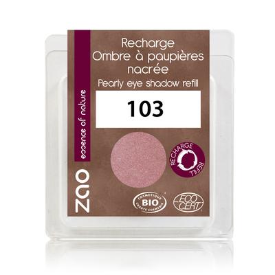 ZAO MAKE UP - Fard à Paupière Nacré - 103 VIEUX ROSE Recharge