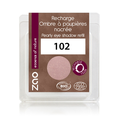 ZAO MAKE UP - Fard à Paupière Nacré - 102 BEIGE ROSE Recharge