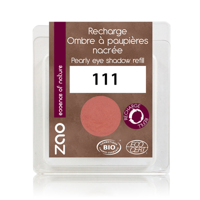 ZAO MAKE UP - Fard à Paupière Nacré - 111 ROSE PECHE Recharge