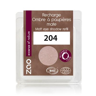 ZAO MAKE UP - Fard à Paupières Mat - 204 VIEUX ROSE DORE Recharge
