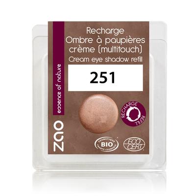 ZAO MAKE UP - Fard à Paupières Creme - 251 CUIVRE Recharge