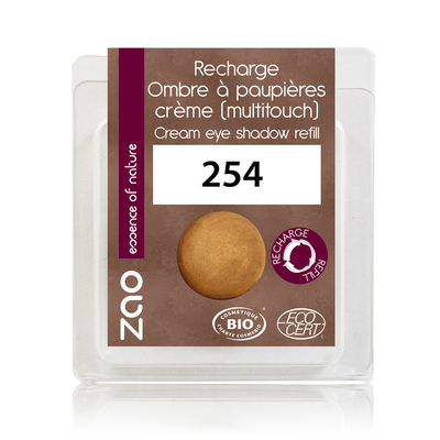 ZAO MAKE UP - Fard à Paupières Creme - 254 BRONZE DORE Recharge